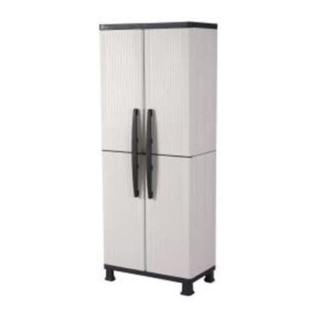 Hdx Plastic Storage Cabinets by Hdx 27 In W 4 Shelf Plastic Multi Purpose Cabinet In