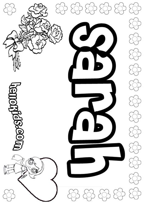 sarah coloring pages hellokidscom
