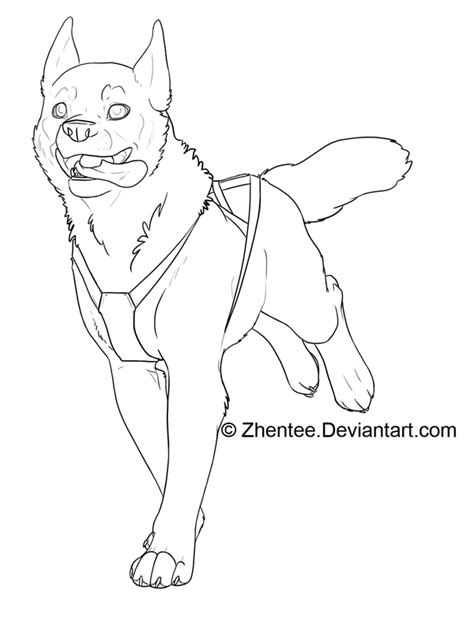running puppy lineart  linearts   coloring