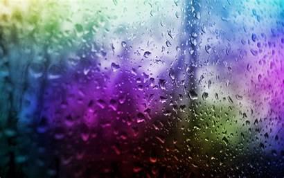 Water Multicolor Panes Drops Window