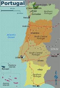 File Portugal Regions Map Svg