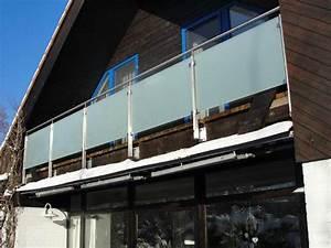Glas Für Balkongeländer : balkongel nder aus edelstahl satiniertes glas ~ Sanjose-hotels-ca.com Haus und Dekorationen
