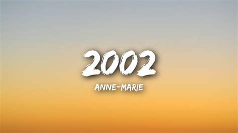 2002 (lyrics / Lyrics Video)