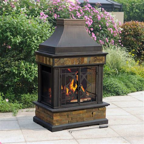 chimney outdoor pit fireplace design ideas