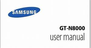 Samsung Galaxy Note Gt N8000 Manual User Guide
