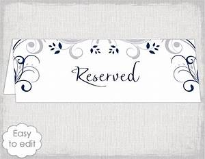 Wedding Reserved Sign Card Template Scroll