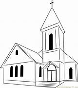 Church Coloring Pages Colouring Perfect Inside Template Coloringpages101 Description sketch template