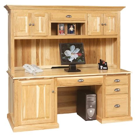 Desk With Hutch Top by Amish Traditional Computer Desk With Hutch Top