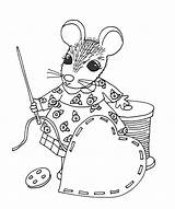 Sew Stamps Digi Mousie Sewing Mouse Animal Coloring Colouring Embroidery Pages Quilt Dolls Dearie Labels Applique 1338 1600 Hangings Quilted sketch template