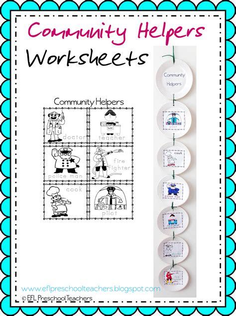 Eslefl Preschool Teachers Community Helpers Worksheets And More