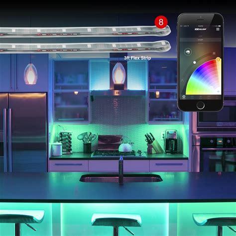 app controlled led lights 8pc 3ft flex strip xkchrome app control home indoor