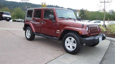 jeep rubicon 2017 maroon 2007 jeep wrangler maroon stock 13 3329a youtube