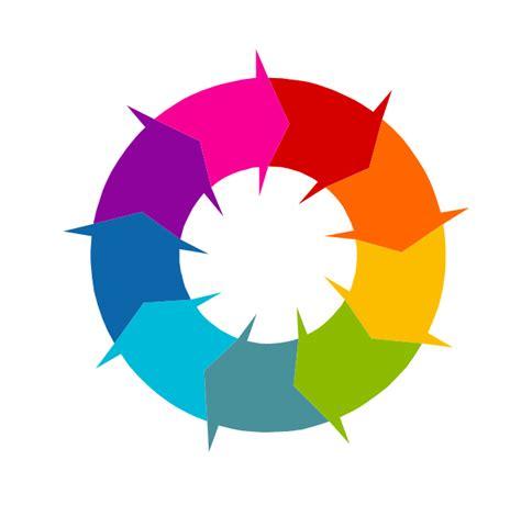Vector Circular Arrow Diagram