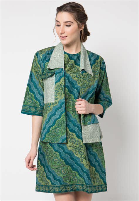 dress batik motif lereng tritik mix  danar hadi