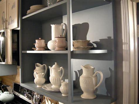 build open  style kitchen shelves hgtv