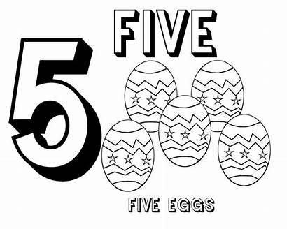 Coloring Number Numbers Pages Preschool Sheet Creation