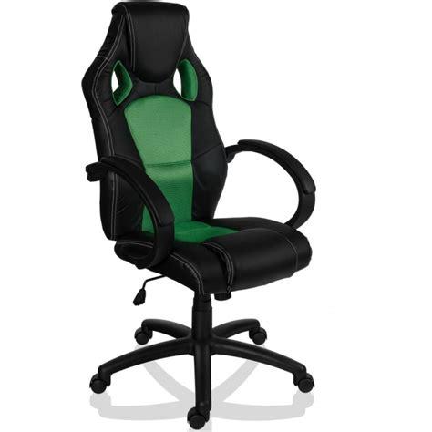 fauteuil de bureau sport racing noir et vert