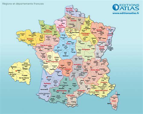 Carte De Region Et Departement Et Chef Lieu by D 233 Partements Fran 231 Ais Arts Et Voyages