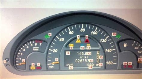 mercedes dashboard mercedes a class dashboard warning lights