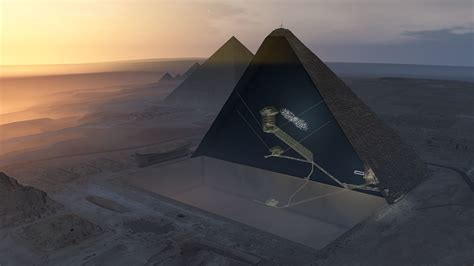 cosmic rays reveal unknown void   great pyramid