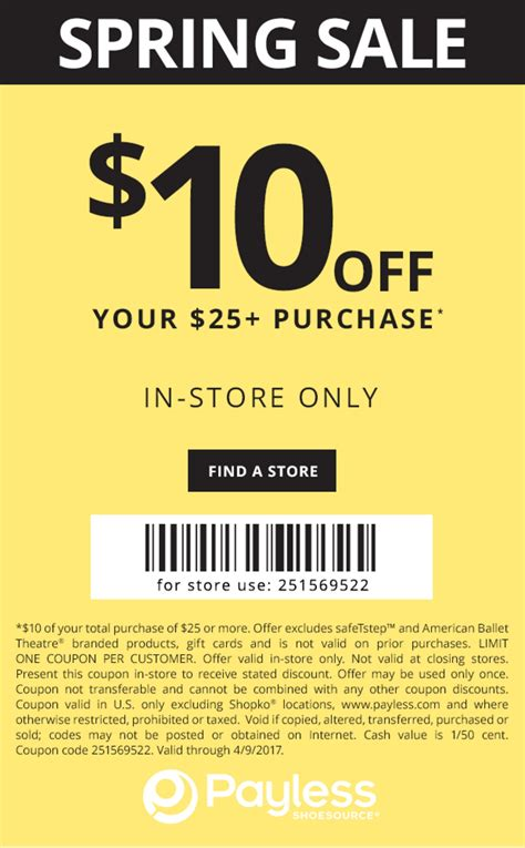 Shoes Coupon Payless Shoes Coupons Printable Coupons In Store