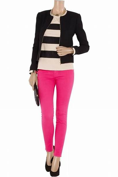 Pink Pants Outfit Wear Outfits Jeans Ankle