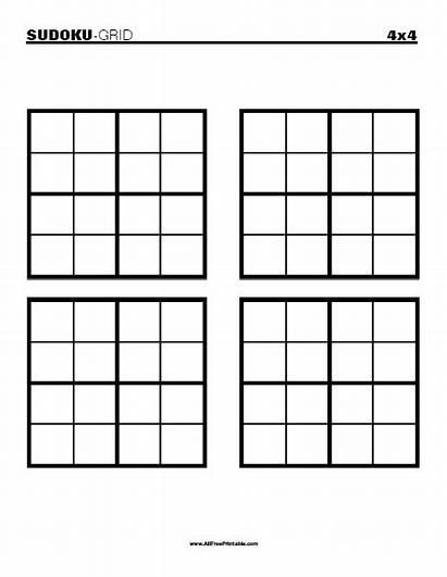 Sudoku Blank Grid Printable 4x4 Allfreeprintable