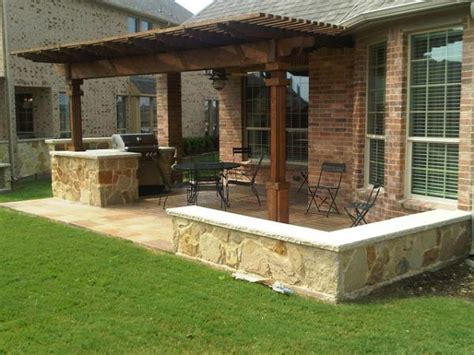 backyard kitchen design ideas houston outdoor kitchen with cedar pergola lone star