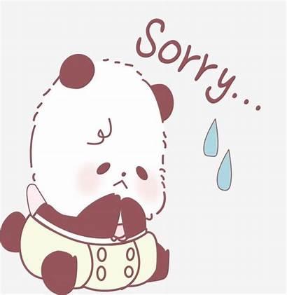 Sorry Cartoon Painted Pngtree Tut Leid Mir
