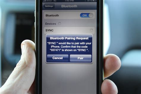 pair iphone to car how to pair an iphone with ford sync and myford touch