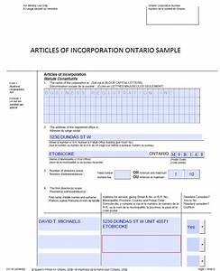 Share Certificate Template Canada Example Articles Of Incorporation Canada