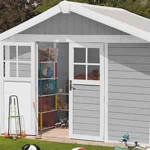 Abri De Jardin En Pvc : abri de jardin en pvc 7 5m deco gris clair et blanc ~ Edinachiropracticcenter.com Idées de Décoration