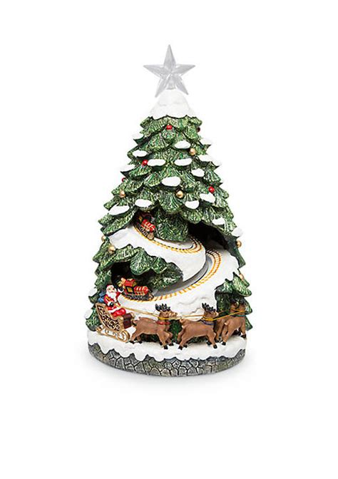 fao schwarz led holiday scene christmas tree village belk