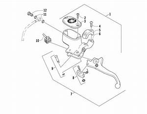 Hydraulic Hand Brake Assembly  U0434 U043b U044f 500 Fis Manual Arctic Cat