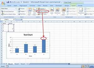 Data Visualization - How Do You Put Values Over A Simple Bar Chart In Excel