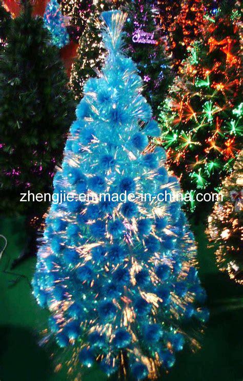 china light blue fiber optical christmas tree jy6029