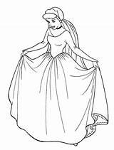 Coloring Pages Cinderella Disney Fancy Colouring Princess Dresses Printable Bride Princesses Adult Getcolorings Children Cartoon Cake Clipart Dumbo Colors sketch template