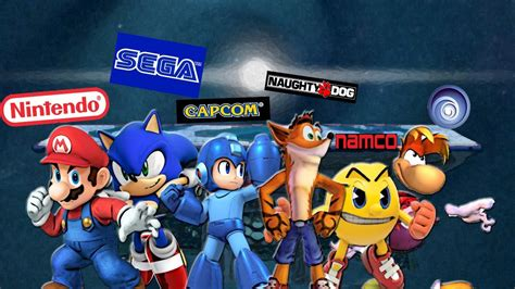Ssbcmario Vs Sonic Vs Rayman Vs Pac Man Vs Megaman Vs
