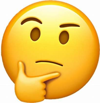 Emoji Thinking Emojis Emotions Think Whatsapp Clipart