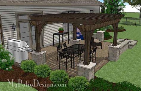large rectangular paver patio design with pit