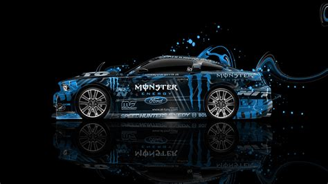 monster energy ford mustang gt side plastic car  el tony