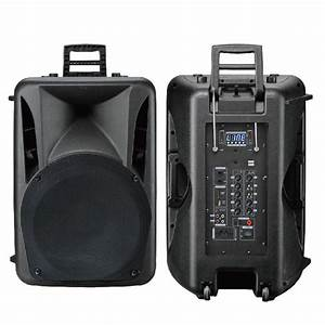 Rechargeable Portable Bluetooth Trolley Audio Box Speaker