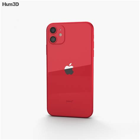Apple iPhone 11 Red 3D model - Electronics on Hum3D