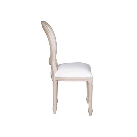 chaise tessy bois de manguier effet c 233 rus 233 et tissu blanc achat vente chaise salle a