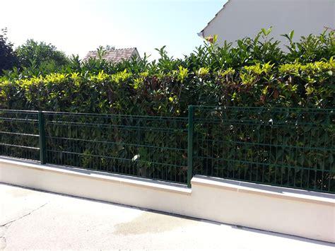 cloture decorative pour jardin cl 244 ture d 233 corative romandy sur muret b 233 ton fix 233 e par