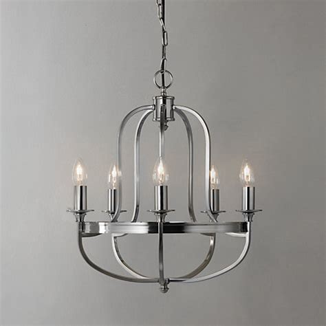 Chandelier Lewis by Buy Lewis Warwick Chandelier Brushed Chrome 5 Arm