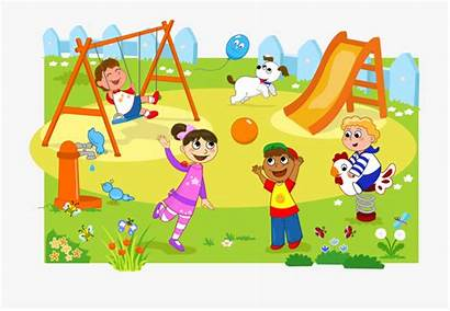 Playground Clipart Park Playing Children Play Clip