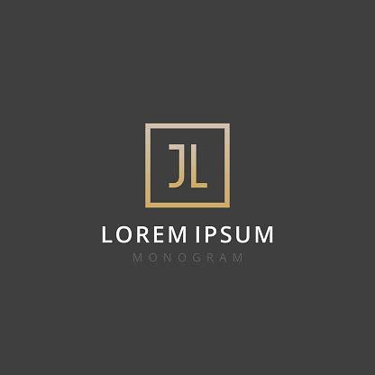 jl monogram   letters   luxury simple minimal  elegant jl logo design vector
