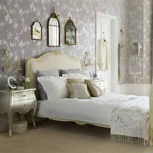 Floral bedroom with wallpaper decor