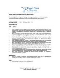 Exle New Graduate Radiologic Technologist Resume by Radiology Technician Resume Exle Sle
